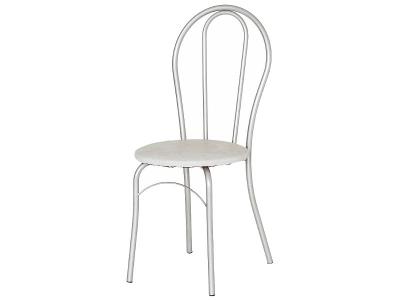 Кухонный стул Элегия серебристый металлик-белый мрамор