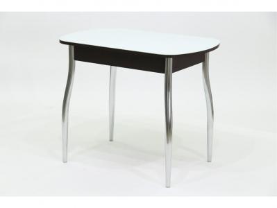 Стол со стеклом Гала 5 венге белый