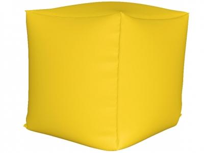 Пуфик Куб мини нейлон желтый