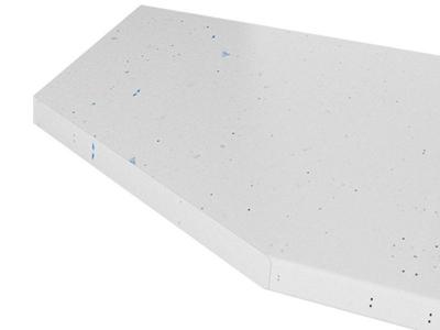 Столешница постформинг торцевавя 40 мм (Белая Искра Глянец) 1500 мм