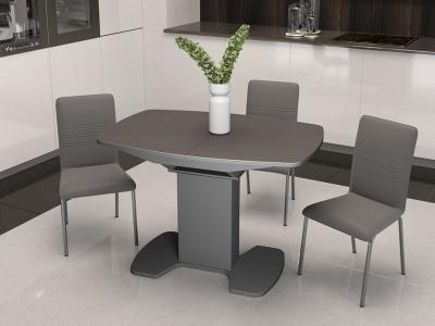 Стол обеденный Портофино СМ(ТД)-105.01.11(1) Серое, cтекло серое матовое LUX