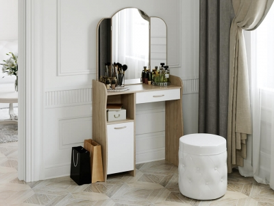 Стол туалетный София Т1 Дуб Сонома, Белый